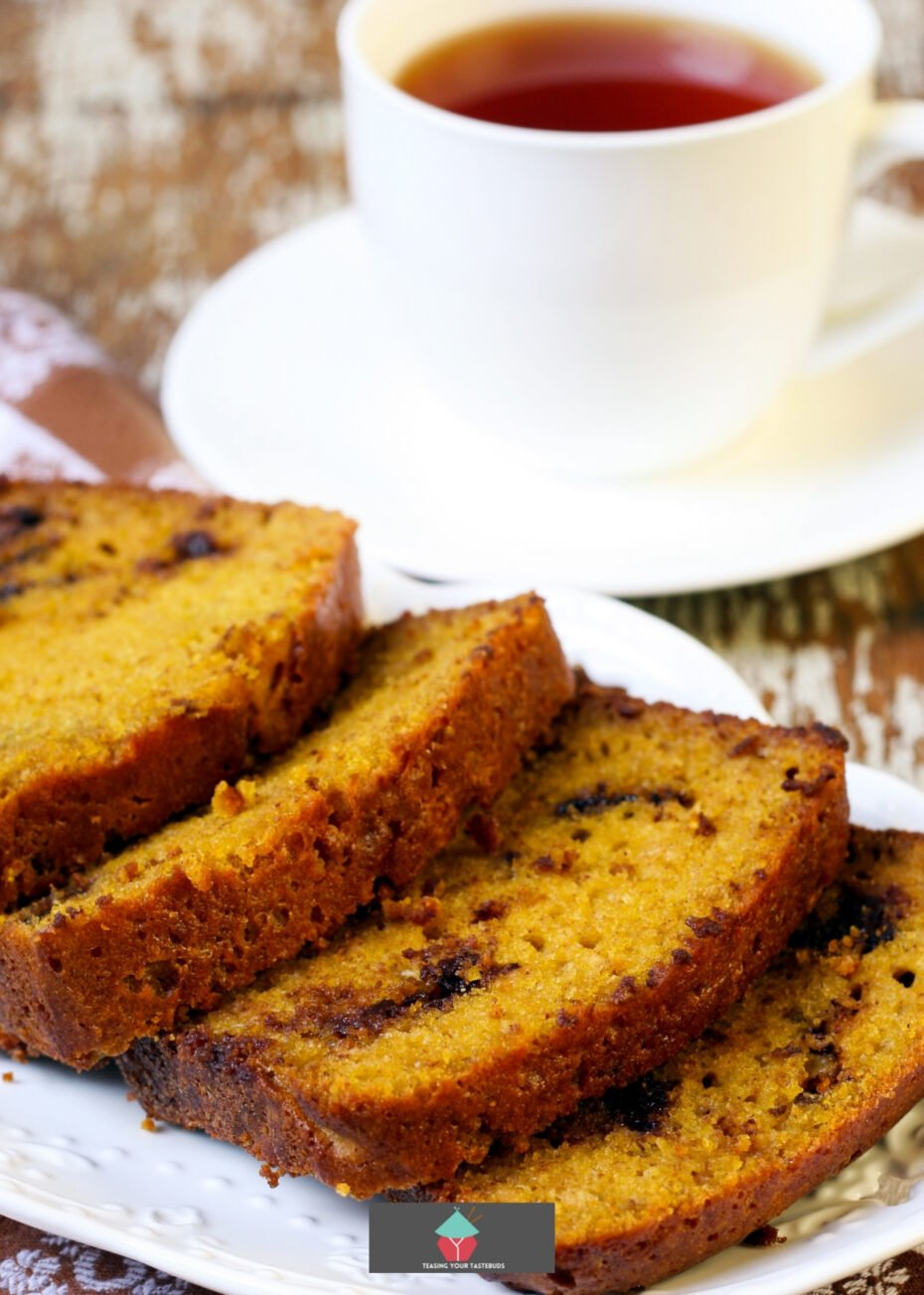 Dolly's Chocolate Chip Cake. Very easy recipe and a family favorite. Makes two loaves so perfect for gifts or freezing too.