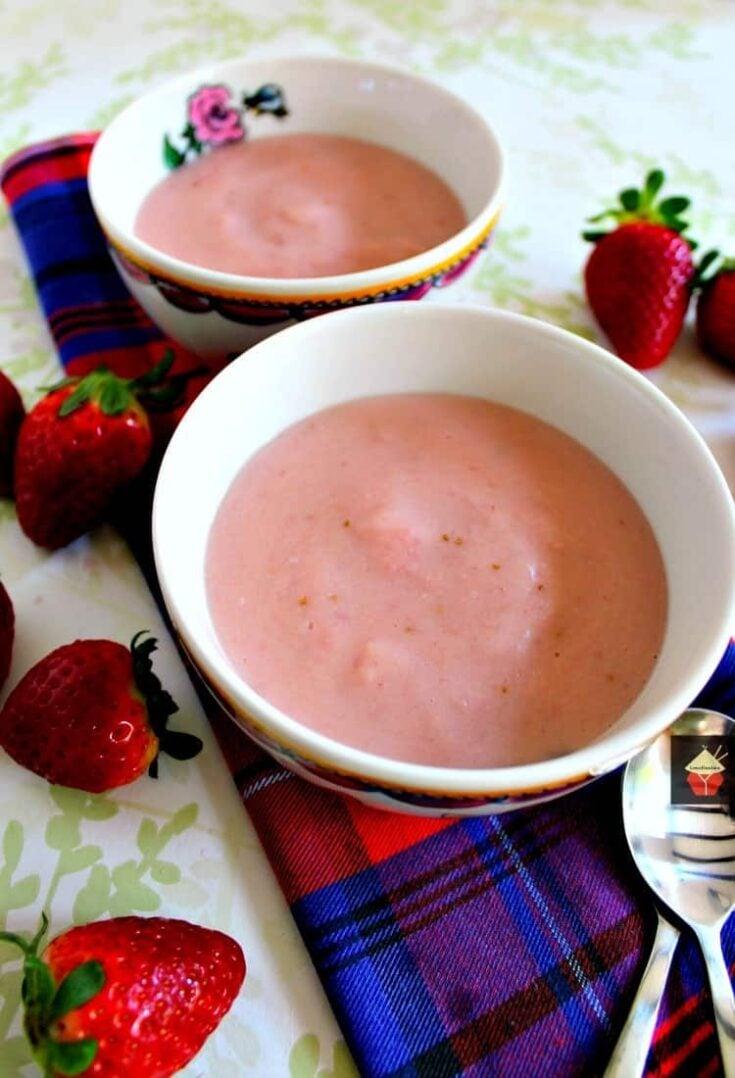 Homemade Strawberry Pudding