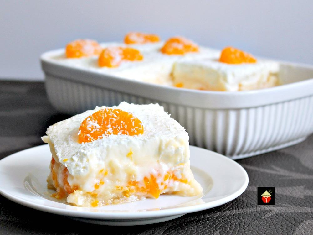 easy mandarin dessert really is that easy if you like mandarins vanilla pudding and trifle. Black Bedroom Furniture Sets. Home Design Ideas