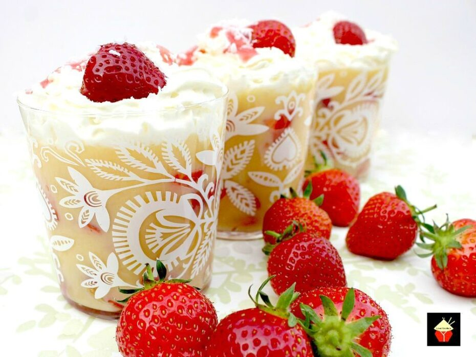 Easy Strawberry and Coconut Trifle. An incredibly easy and great tasting dessert sure to please! | Lovefoodies.com