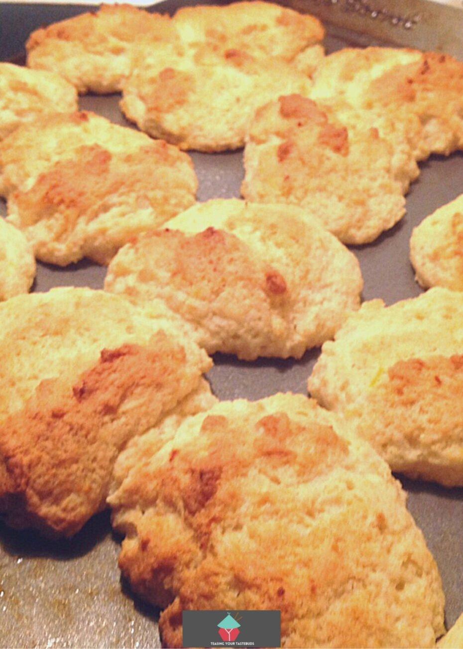 Lemon Scones, baked