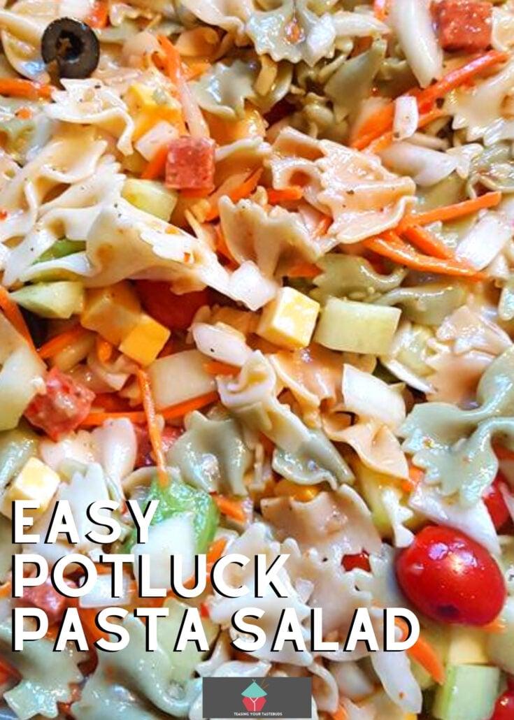 Easy Potluck Pasta SaladH