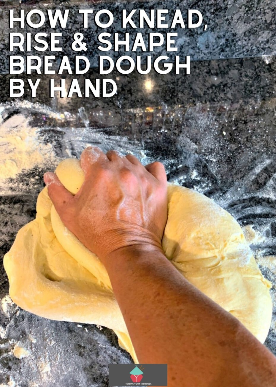 How to Knead, Rise and Shape Bread Dough By Hand. Easy to follow tutorial to show you how to get perfect bread every time without using a stand mixer.