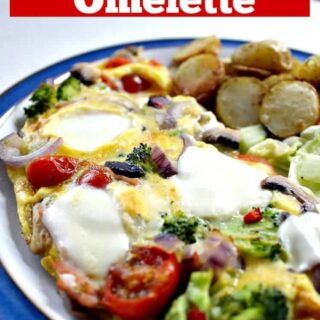 Easy Pizza Omelette! This is a lovely quick and easy recipe and great for busy weeknights. |Lovefoodies.com