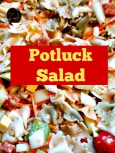 Easy Potluck Pasta Salad! This really is easy and so flexible so you can make it your own! | Lovefoodies.com