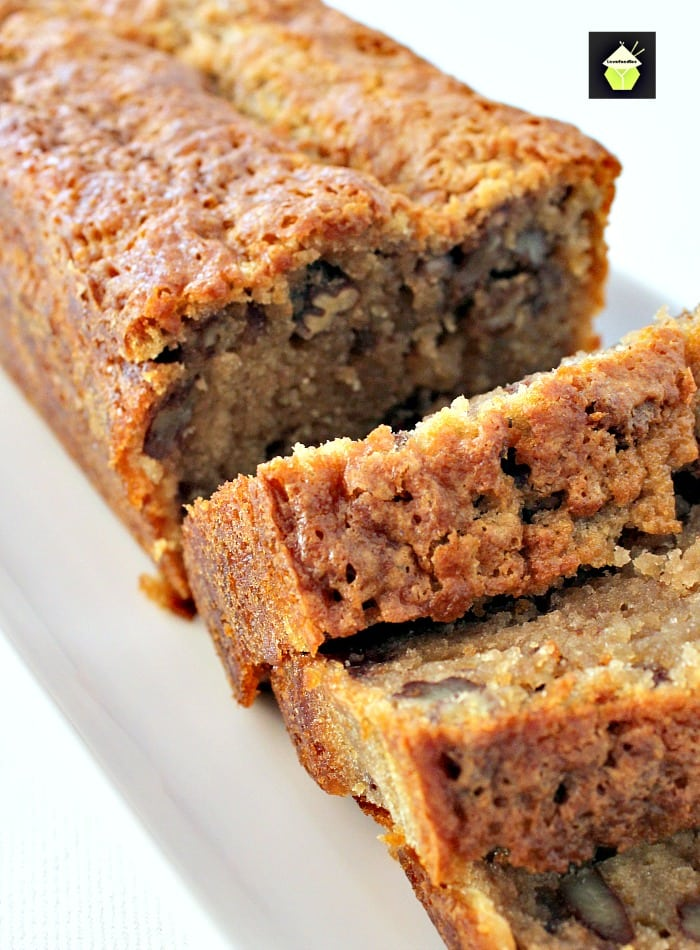 Coffee Pecan Pound Cake is a lovely tasting, moist cake with a perfect combination of coffee flavor and texture from the pecans. Delicious with a cup of coffee! | Lovefoodies.com