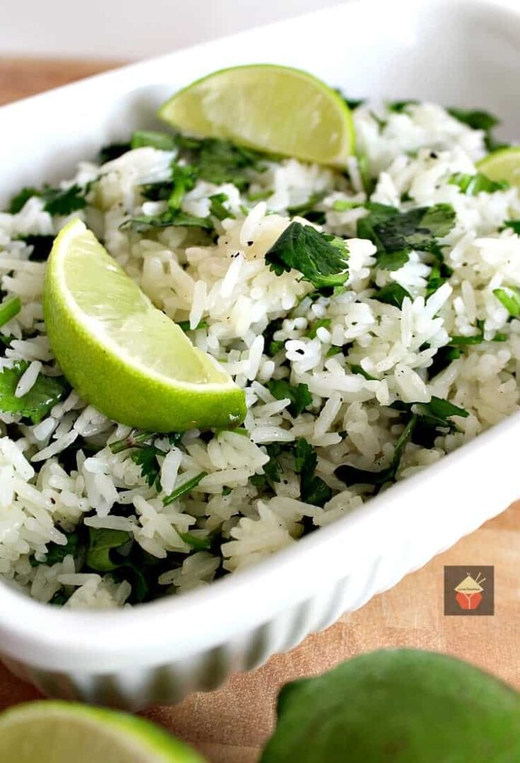 Garlic and Lime Cilantro Rice5