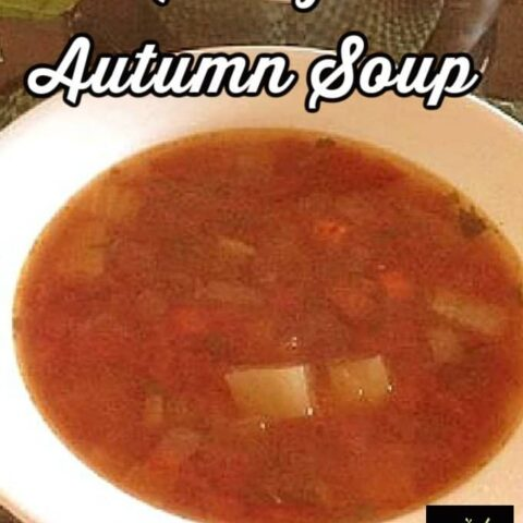 Nanny's Autumn Soup is a lovely recipe made from scratch and easy! Have as a meal or starter, it's delicious!