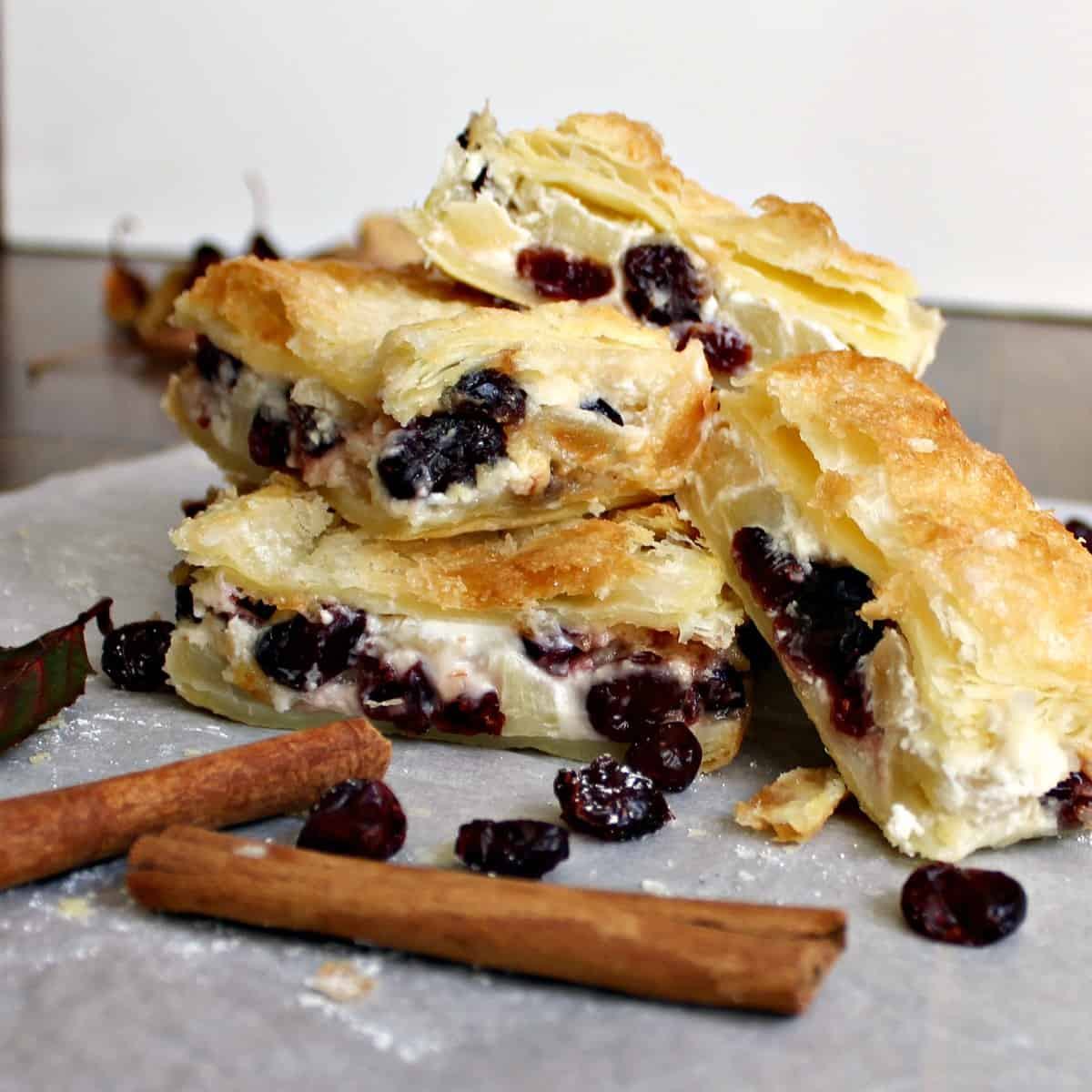 Apple and Cranberry Crescent Roll Cream Cheese BarsF