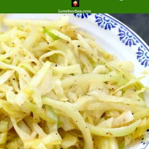 Easy Garlic Cabbage, A great tasting side dish to go with your dinner. Come and see what the secret ingredient is to get cabbage tasting out of this world!