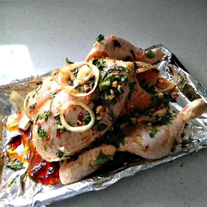 Sunday roast chicken dinner a very easy to follow recipe with cook sunday roast chicken dinner showing marinade forumfinder Gallery