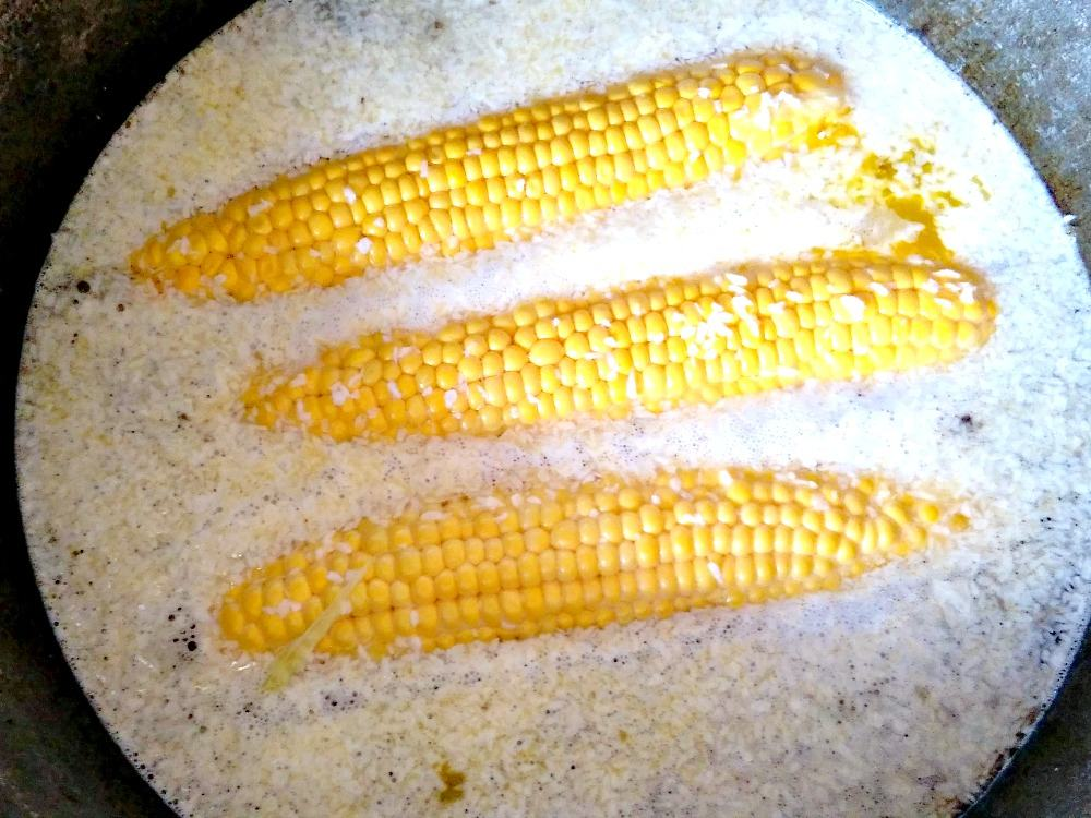 Coconut Corn. Corn cooked in a rich and creamy coconut broth gives a wonderful flavor to a perfect side dish.  Lovefoodies.com