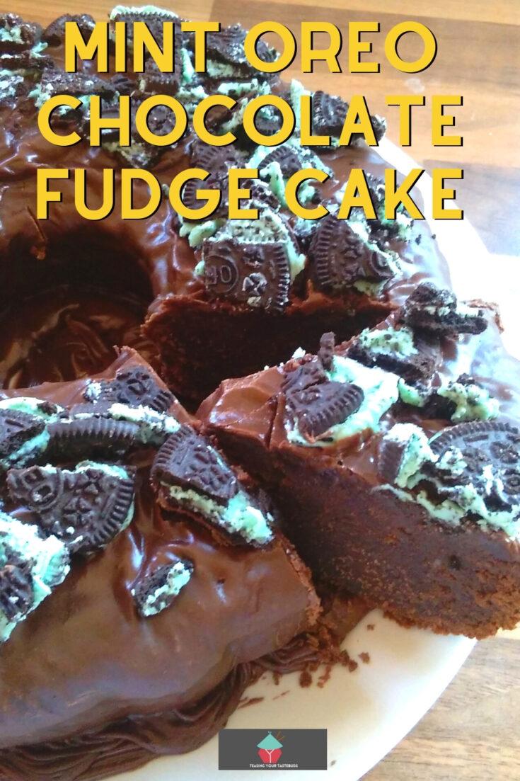 Mint Oreo Chocolate Fudge CakeP1