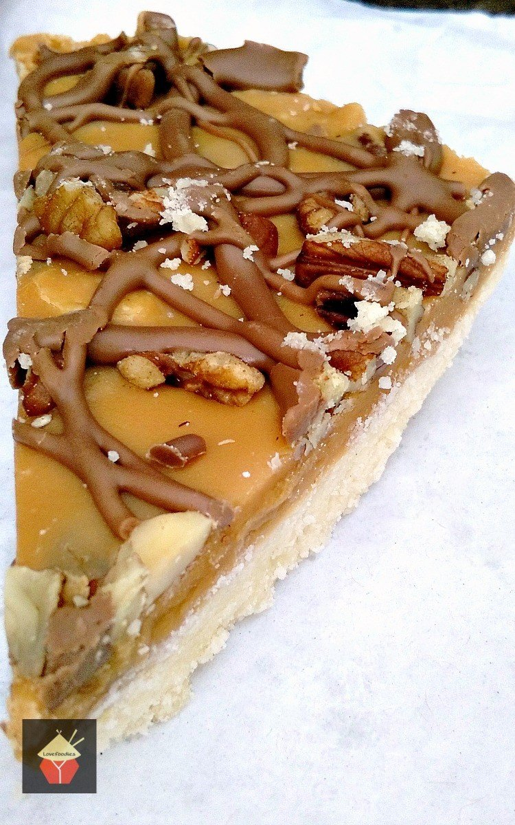 Salted Caramel Chocolate Pecan Shortbread. A delicious recipe, with great flavors and textures!| Lovefoodies.com
