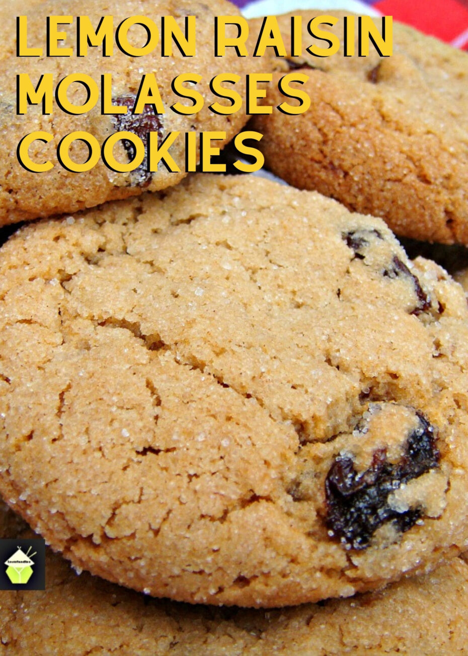 Lemon Raisin Molasses Cookies. Lemon raisin molasses cookies are crispy on the outside and chewy on the inside cookies with lemon infused raisins. A great cookie recipe all year round