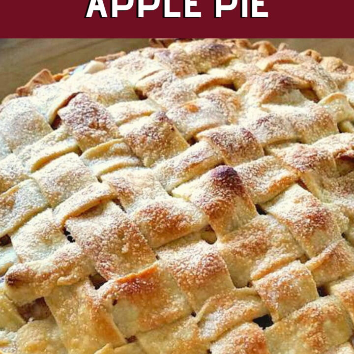 Mom's Homemade Apple Pie. A wonderful old family recipe, simple ingredients, easy to make and delicious every time! Perfect for a regular family dessert, or to take to pot lucks, Thanksgiving, or anytime!