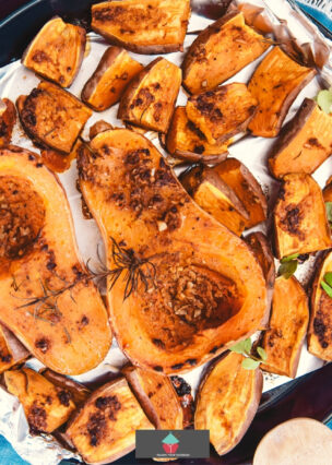 Roasted Maple Jelly Squash, oven roasted with butter and maple Jelly, this is an absolutely delicious starter or side dish and full of the flavors of Fall!