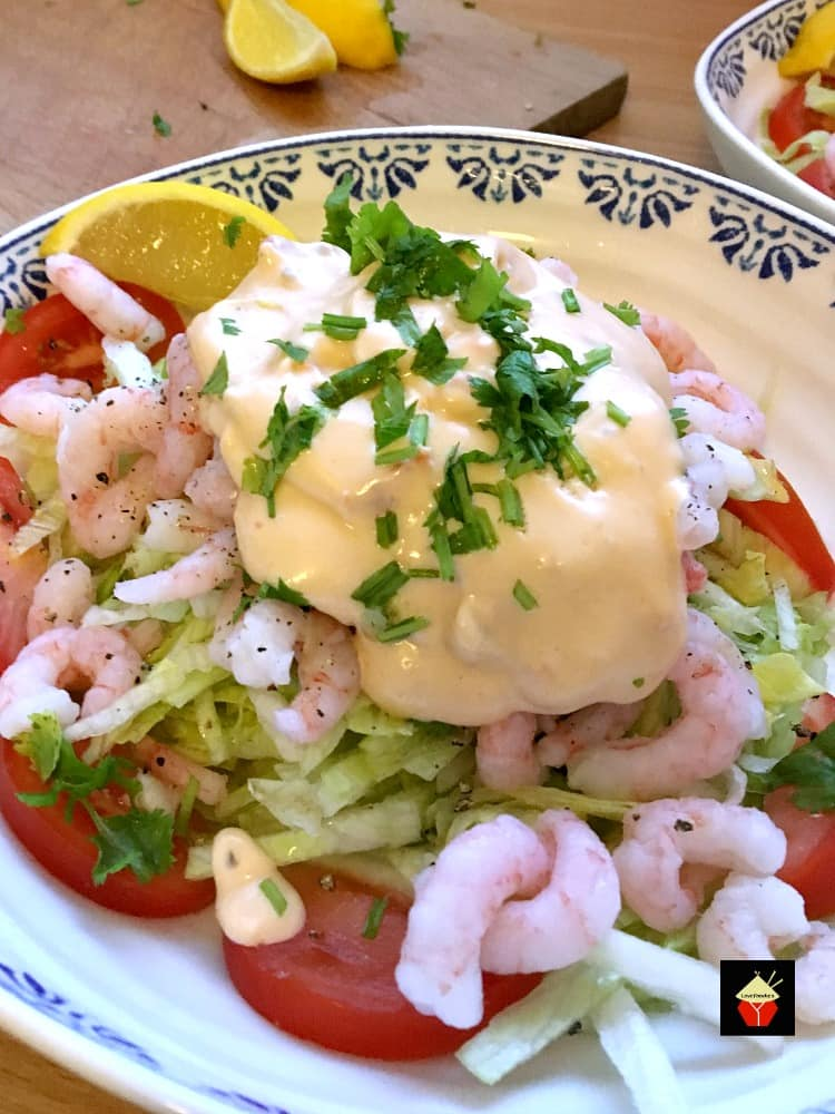 Shrimp Cocktail with Marie Rose Seafood Sauce is a wonderful refreshing appetizer suitable for any occasion. #seafood #sauce #prawncocktail