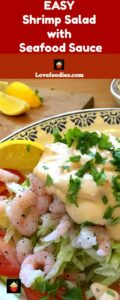 Shrimp Salad with Marie Rose Seafood Sauce is a wonderful refreshing appetizer suitable for any occasion