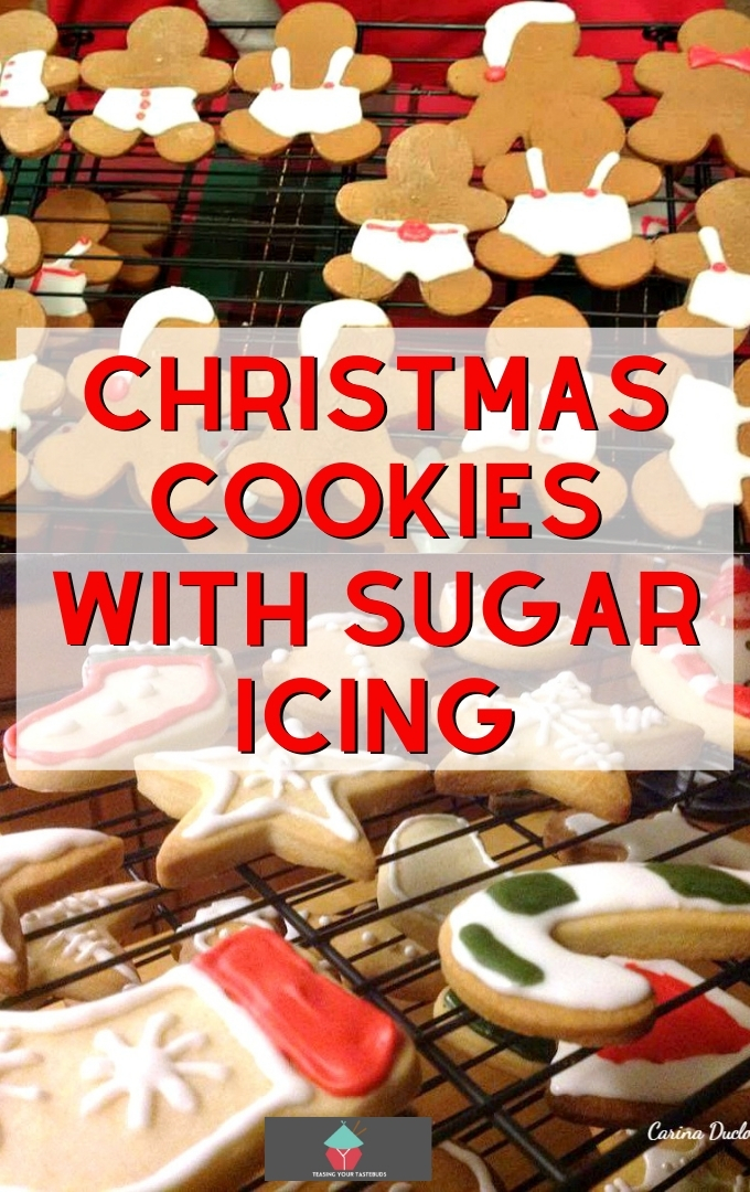 Christmas Cookies with Sugar Icing. These little cookies are such fun to make! Get ready for the holidays and make up a batch. Great for gifts and there's a recipe for a super easy sugar icing too.
