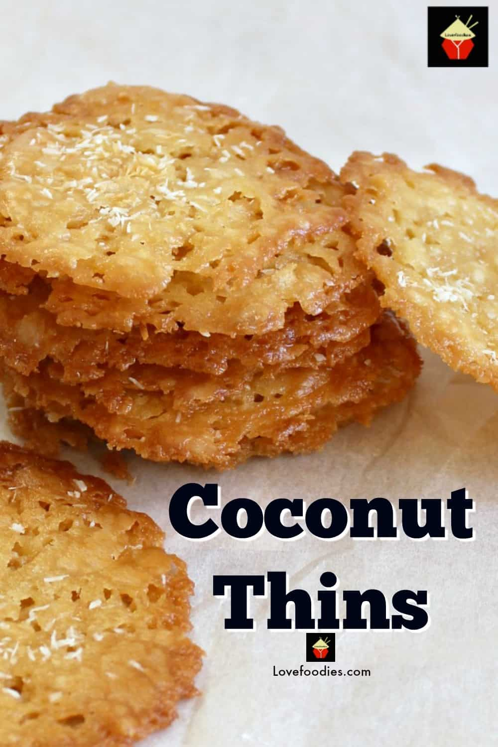 Coconut Thins! If you like crisp, caramel, coconut and sweet then these little treats are for you! They're absolutely delicious and will store for up to a week if you wish to make ahead. They also make lovely gifts too! Nice easy recipe using regular ingredients