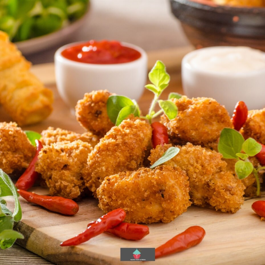 Homemade Chicken Croquettes, Small patties of creamy, buttery chicken filled bites, coated in crispy breadcrumbs then fried. A popular Spanish Tapas dish.