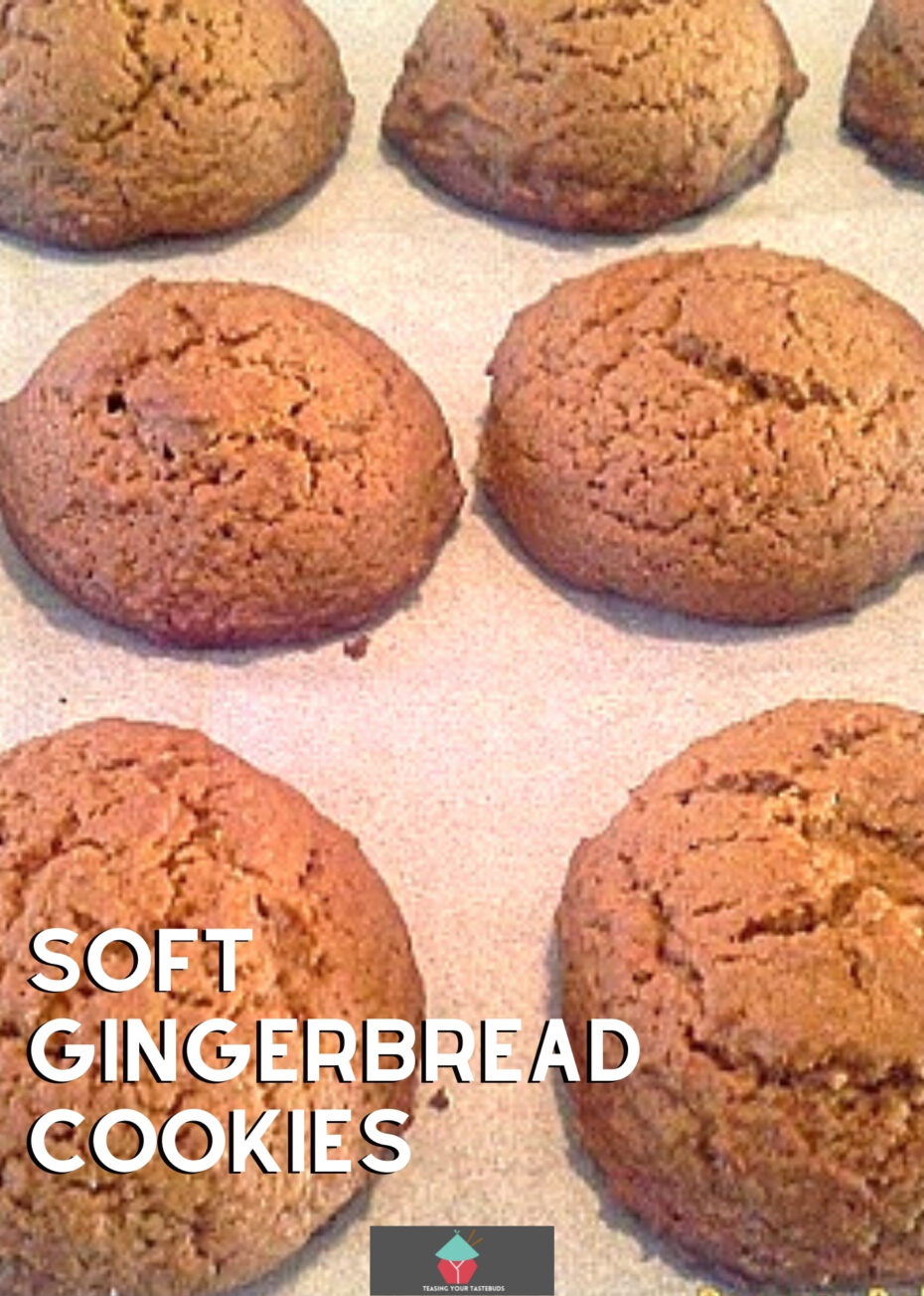 Easy Peasy Soft Gingerbread Cookies, perfect for kiddies to help make too and of course super delicious!
