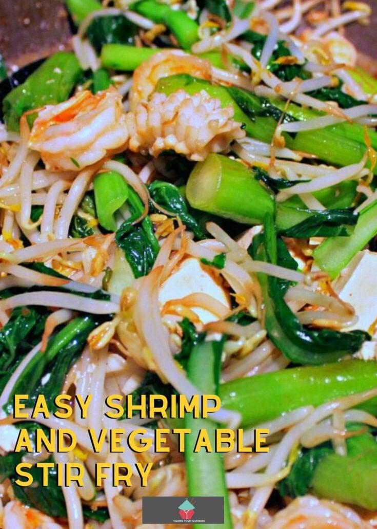 Easy Shrimp and Vegetable Stir FryH