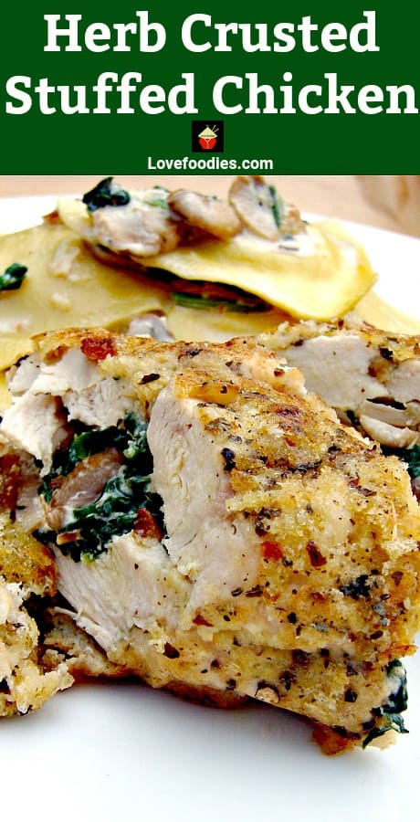 Herb Crusted Stuffed Chicken PTLb