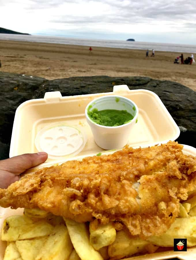 The BEST EVER Beer Battered Fish and Chips! Great flavours and don't forget your shake of vinegar and sprinkle of salt! By the seaside