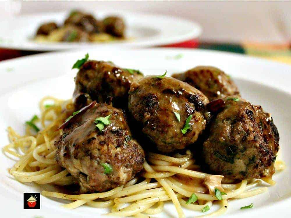 Garlic Meatballs and Pasta is a delicious homemade recipe ...