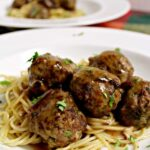 Garlic Meatballs and Pasta