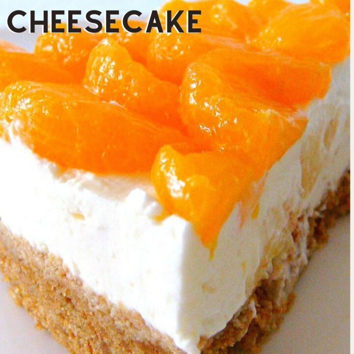 Mandarin and Pineapple Cheesecake is a simple yet delicious cheesecake bursting with juicy mandarins on the top and chunks of pineapple in the filling. It's a really refreshing cheesecake, and even better, it's No Bake!