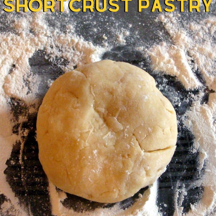 How To Make A Quick Basic Pie Crust, Shortcrust Pastry. Sweet or savory. Easy to follow recipe and takes minutes to make. Suitable for freezing before or after baking.