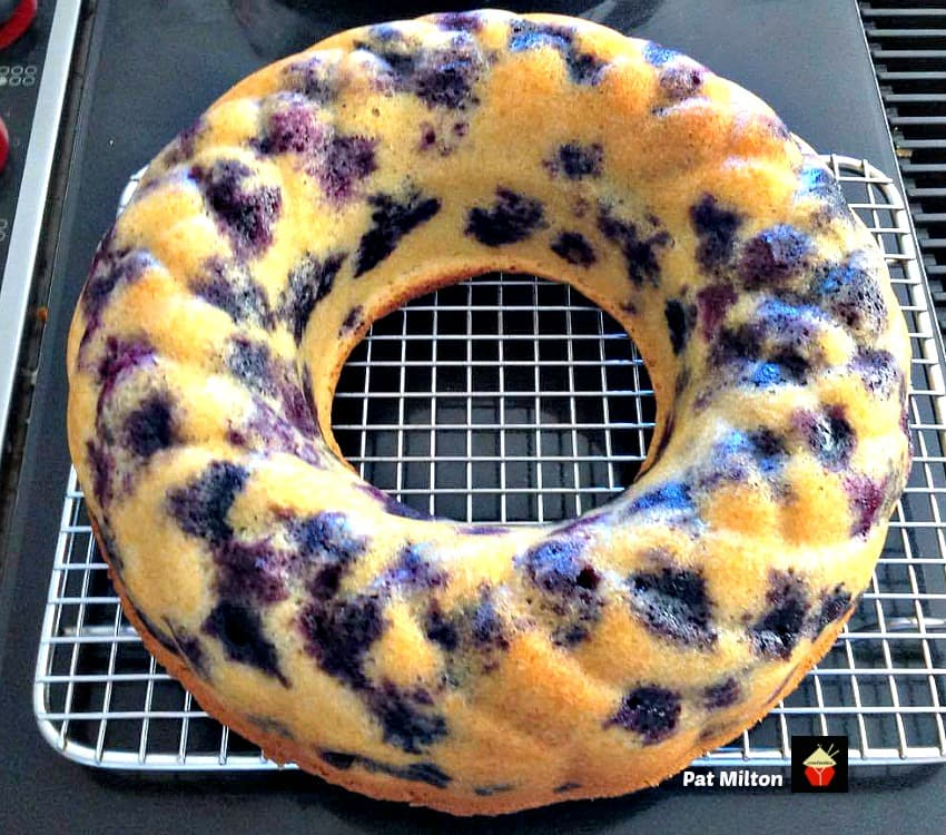 Nanny's Blueberry Bundt Cake is a delicious soft cake bursting with blueberries. Easy to make and always a family favorite!