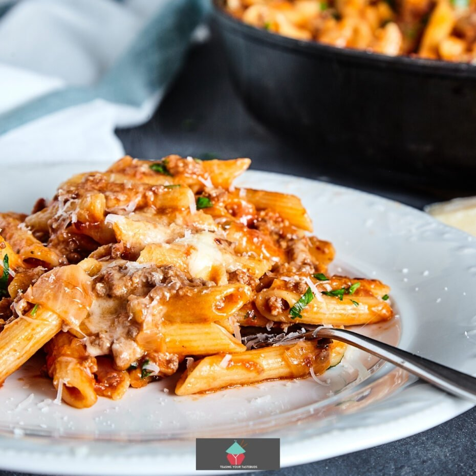 Easy American Hamburger Goulash. This is an easy recipe for how to make cheesy hamburger goulash, using pasta, ground meat,melted cheese and vegetables, cooked on the stove top. Pure comfort food using fresh ingredients.
