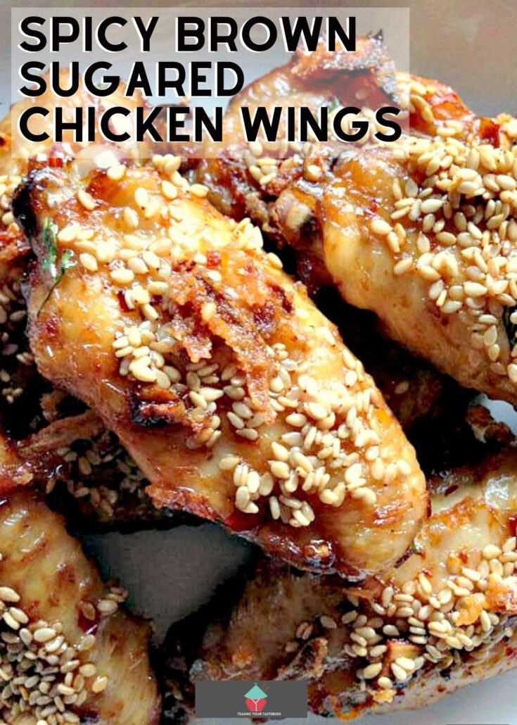 Spicy Brown Sugared Chicken WingsH