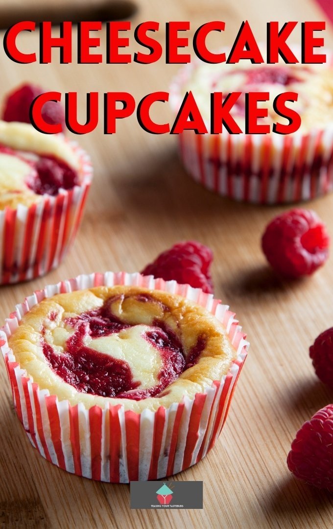Cheesecake Cupcakes. Cheesecake Cupcakes, New York Style mini vanilla cheesecakes with a strawberry or raspberry swirl. Easy made from scratch recipe and ideal for parties
