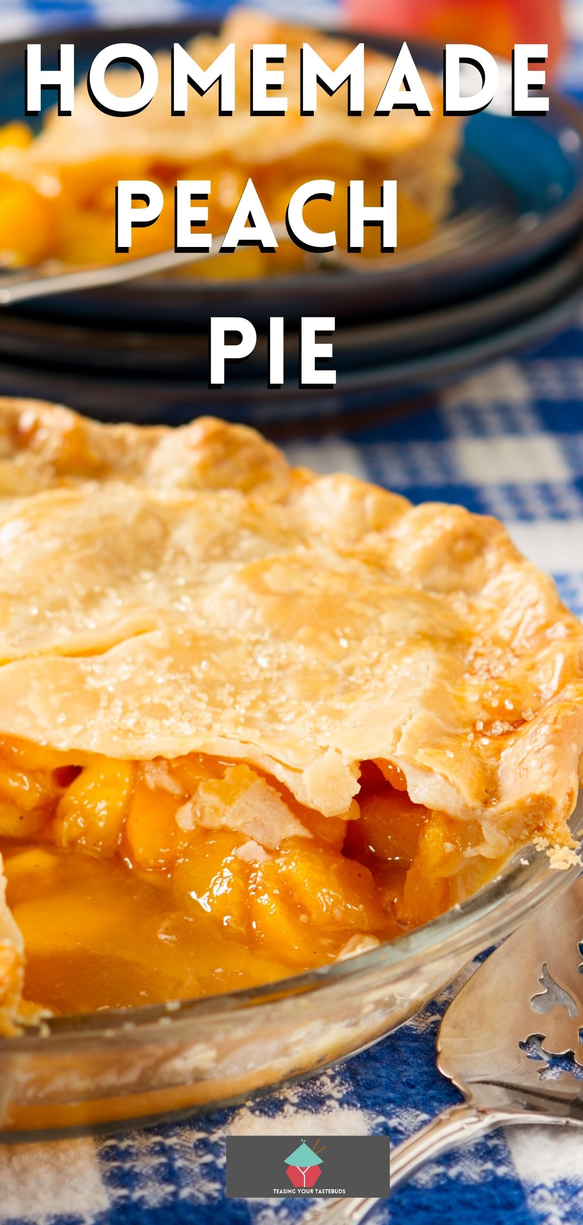 Homemade Peach Pie. A wonderful recipe all made from scratch with a delicious crispy flaky pastry. Serve warm with some whipped cream or ice cream! Yummy!