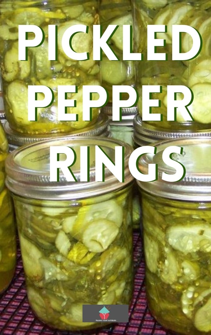 Pickled Pepper Rings - Grab some peppers and make a few jars of these Pickled Peppers. Great for gifts or parties, game nights buffets and delicious with cold cuts.