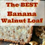 The BEST Banana Walnut Loaf Pound Cake is a super moist, made from scratch recipe with mashed bananas and nuts. Great for breakfast, brunch or dessert. An excellent, easy banana cake