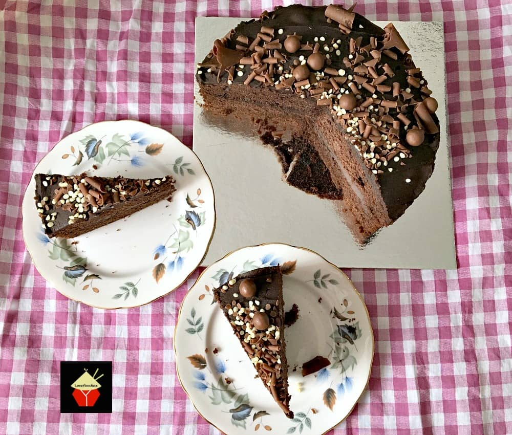 Easy Chocolate Party Cake, a lovely easy cake recipe made from scratch with a lovely chocolate filling. Perfect for chocolate lovers!