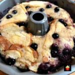 Fluffy Blueberry Ripple Bread and Butter Pudding
