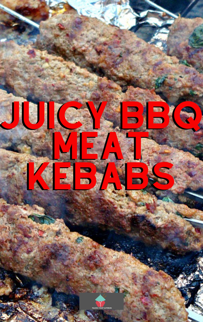 Juicy BBQ Meat Kebabs. These juicy BBQ meat kebabs are bursting with a variety of spices and fresh herbs for a juicy, full of flavor meat skewer recipe. Ideal for outdoor eating, and easy to prepare.