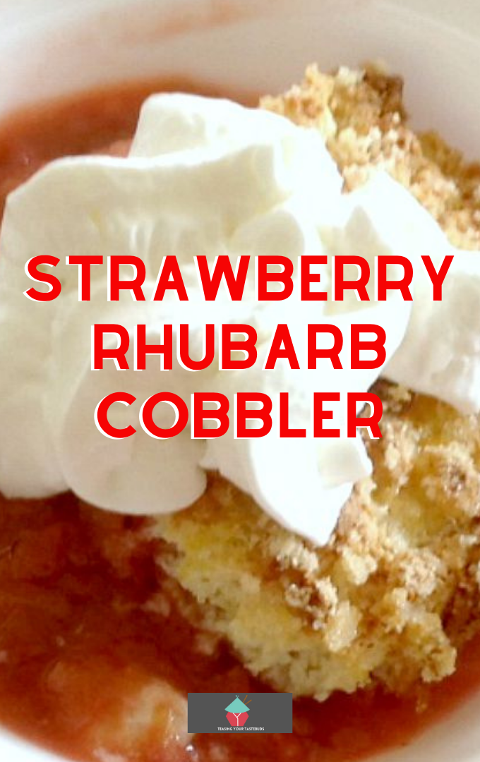 Strawberry Rhubarb Cobbler. Strawberry Rhubarb Cobbler is a delicious dessert, flexible with the fillings so you could swap the fruits to your choice! Great served warm with some whipped cream or ice cream and also freezer friendly