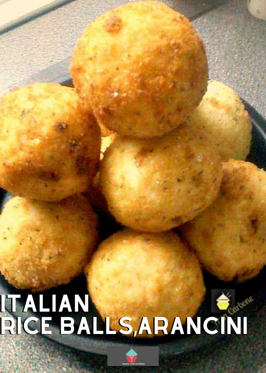 Italian Rice Balls, arancini. Easy to make rice balls, filled with homemade beef ragu, then coated in breadcrumbs and fried. Delicious appetizers, party food or supper recipe