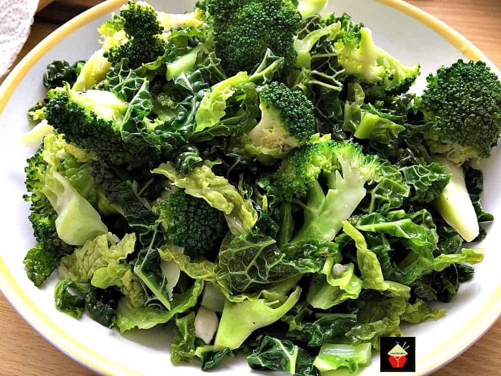 steamed cabbage and broccoli recipe