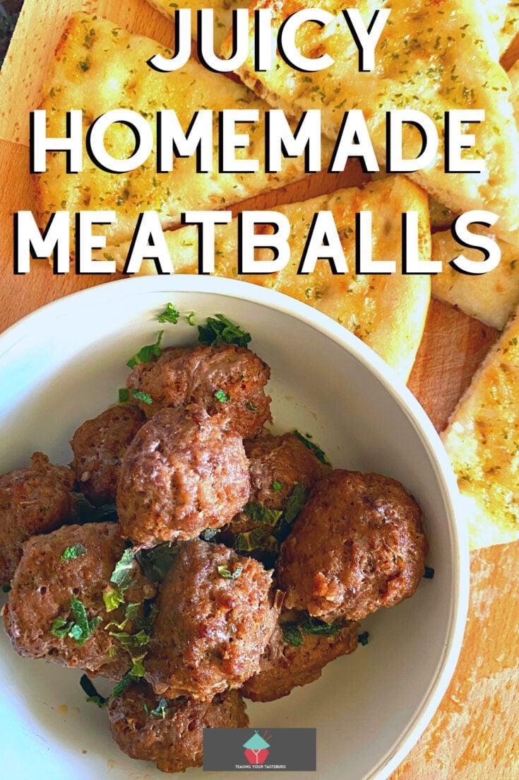 Juicy Homemade MeatballsP2