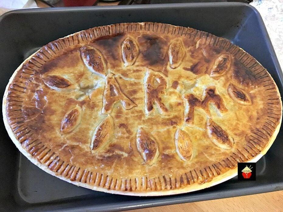 Left Over Roast Chicken Pot Pie,baked