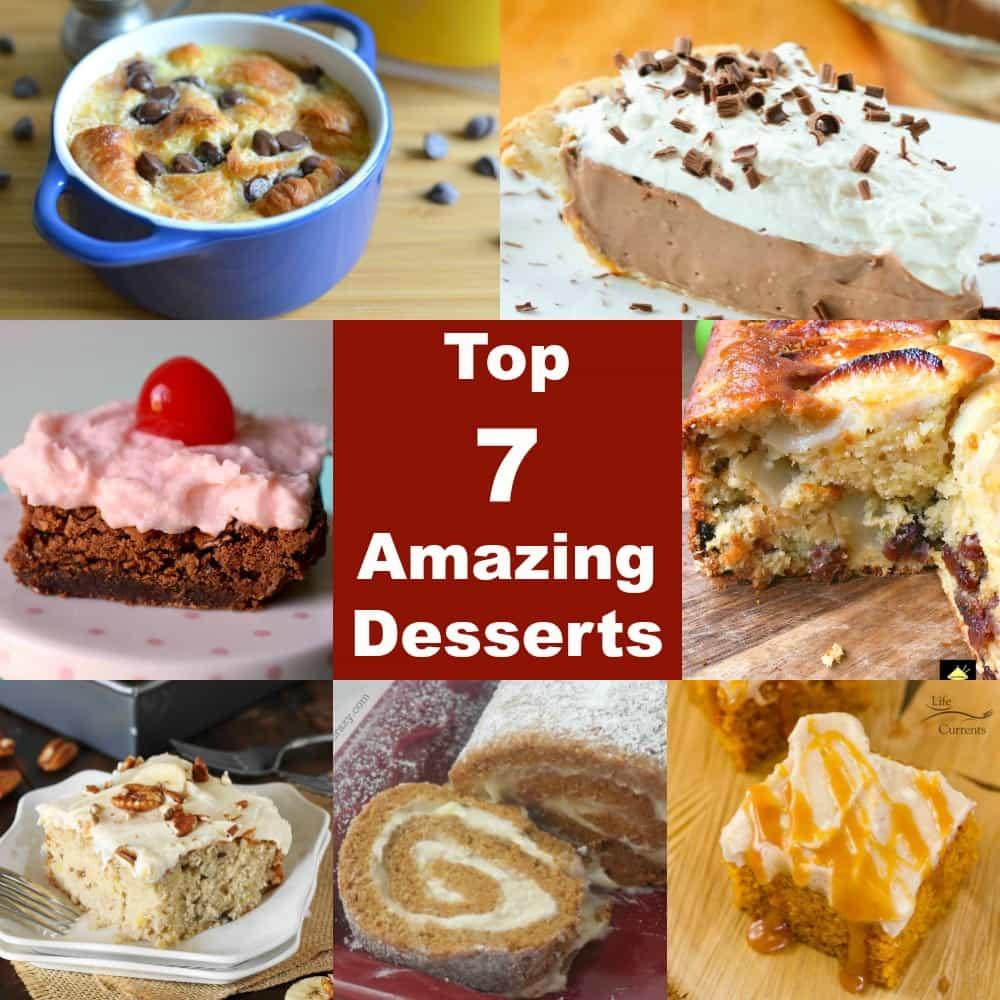 Top 7 amazing desserts